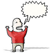 Schreeuwen man cartoon — Stockvector