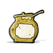 Cartoon honey pot — Stock Vector