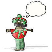 Cartoon man in mexicaanse kostuum — Stockvector