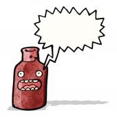 Shocked wine bottle cartoon — Stock Vector