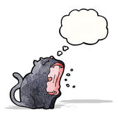 漫画黒い猫 — ストックベクタ