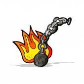 Cartoon ball and chain — Stock Vector