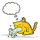 打嗝猫卡通 — 图库矢量图片