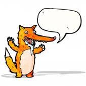 Cartoon drooling fox — Stock Vector
