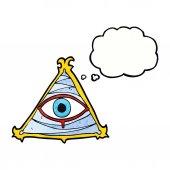 Cartoon mystic eye symbol — Stock Vector