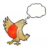 Cartoon dancing robin — Stock Vector