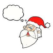 Cartoon jolly santa claus face — Stock Vector