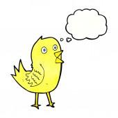 Karikatür tweeting kuş — Stok Vektör