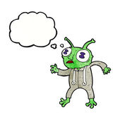 Kreslený alien mimozemšťan — Stock vektor