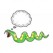 Cartoon poisonous snake — Stock Vector