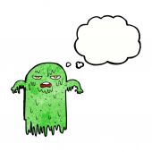 Cartoon slimy ghost — Stock Vector