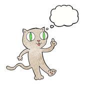 Cartoon cat with idea — Stock Vector
