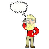 Cartoon man with idea with speech bubble — Stock Vector