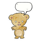 Cartoon teddy bear with speech bubble — Stock Vector