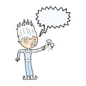 Jack frost cartoon with speech bubble — Stock Vector