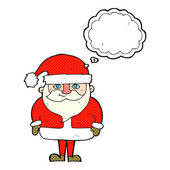 Cartoon happy santa claus with thought bubble — Wektor stockowy
