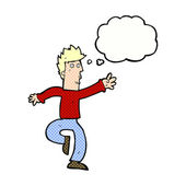 卡通漫画与思想泡泡紧急的人 — 图库矢量图片