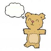 Cartoon cute teddy bear with thought bubble — Stock vektor
