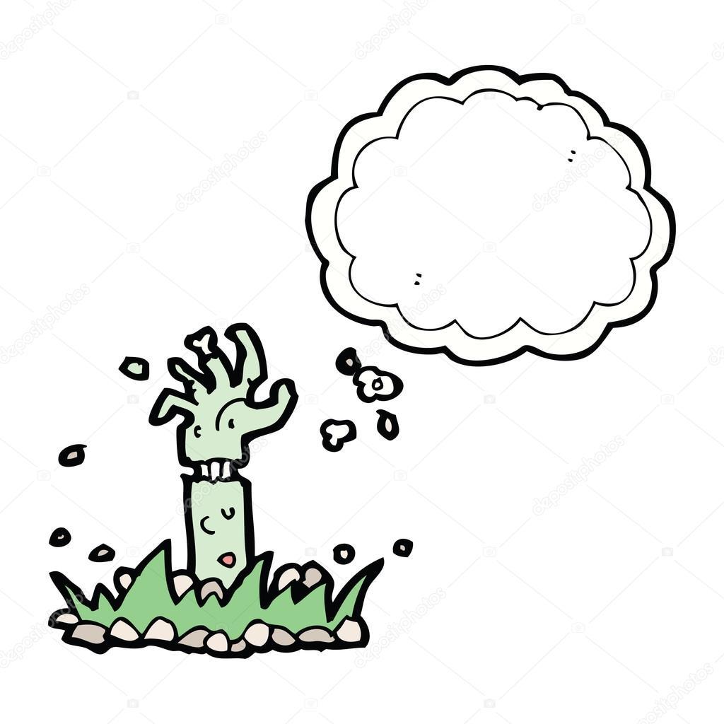 卡通僵尸手臂与思想泡泡 — 图库矢量图像08 linear