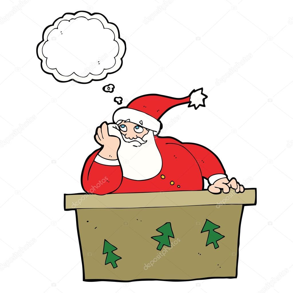 卡通圣诞老人厌烦思想泡泡 — 图库矢量图像08 test
