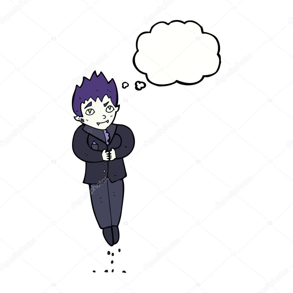 卡通浮动吸血鬼与思想泡泡 — 图库矢量图像08 test