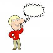 Cartoon man with idea with speech bubble — Wektor stockowy