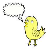 Cartoon tweeting vogels met tekstballon — Stockvector