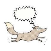 Rysunek wilka z dymek — Wektor stockowy