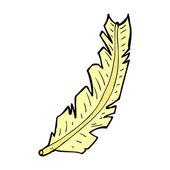 Comic cartoon feather — Stock Vector