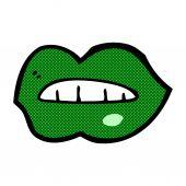 Comic cartoon halloween lips  — Stock Vector