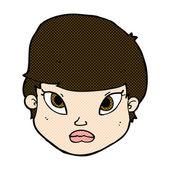 Comic cartoon serious face — 图库矢量图片
