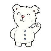 Comic cartoon polar bear — Stock Vector