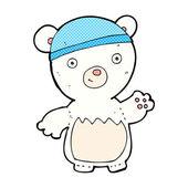 Komiksově kreslenou lední medvěd klobouk — Stock vektor