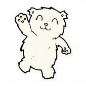 Komiksově kreslenou mává lední medvěd — Stock vektor