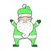 Comic cartoon stressed out santa — Stock Vector