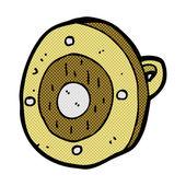 Comic cartoon shield — Stock Vector
