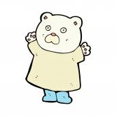 Funny comic cartoon polar bear — Stock Vector