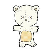 Cute comic cartoon polar bear — Vettoriale Stock