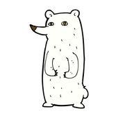 Vtipné komické kreslené lední medvěd — Stock vektor