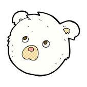 Comic cartoon polar bear face — Stock Vector