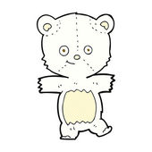 Comic cartoon cute polar bear — Stock Vector