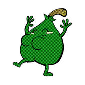 A nice pear comic cartoon — Stock Vector