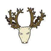 Comic cartoon stag head — Stock Vector