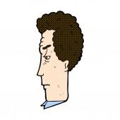 Comic cartoon annoyed man — Stock Vector