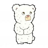 Comic cartoon polar bear cub — Stock Vector