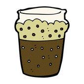 Comic cartoon glass of beer — ストックベクタ