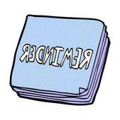 Comic cartoon reminder notes — Stock Vector