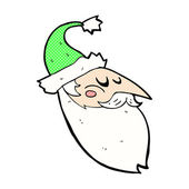 Comic cartoon santa face — Stock Vector