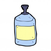 Comic cartoon old squirt bottle — Stock Vector
