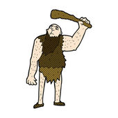 Comic cartoon neanderthal — Stock Vector